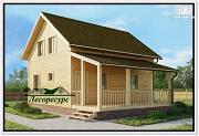 Фото: дом c террасой