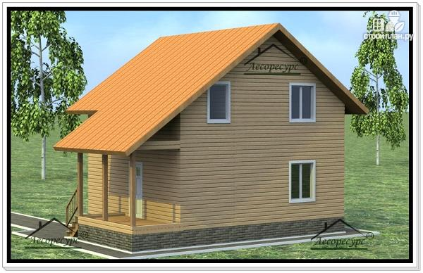 Фото 3: проект дом из бруса 8×10