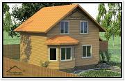 Проект дом из бруса 8×10