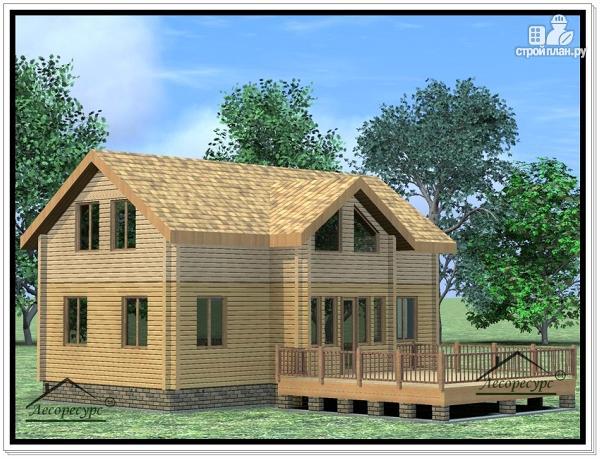 Фото 3: проект дом из бруса 9 × 12