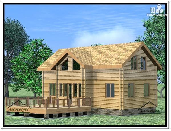 Фото 4: проект дом из бруса 9 × 12