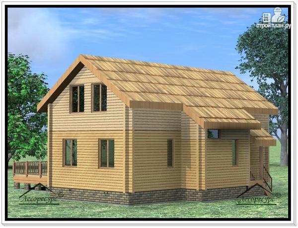 Фото 2: проект дом из бруса 9 × 12
