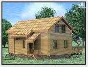 Проект дом из бруса 9 × 12