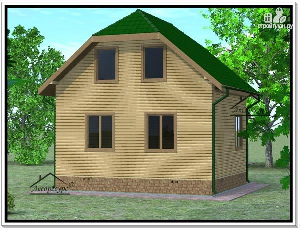 Фото 3: проект дом из бруса 6 × 7