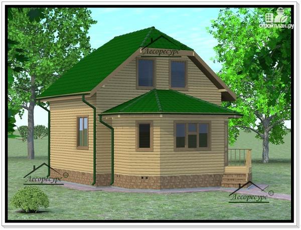 Фото 2: проект дом из бруса 6 × 7