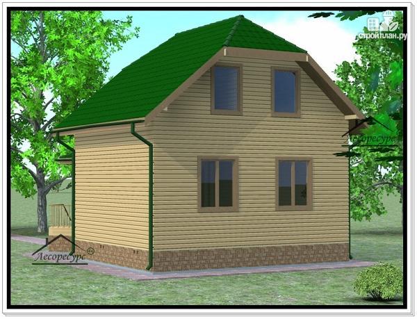 Фото 4: проект дом из бруса 6 × 7
