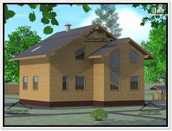 Фото 4: проект дом из бруса 10 × 10
