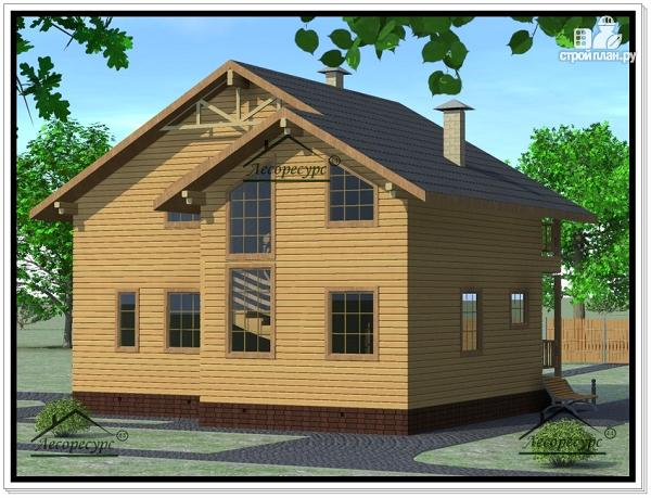 Фото 3: проект дом из бруса 10 × 10