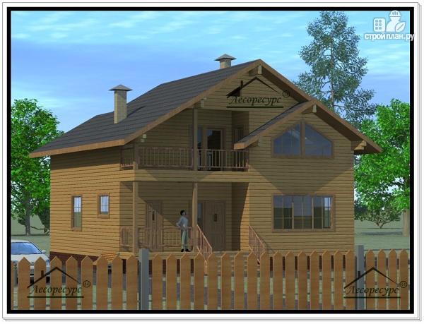 Фото 2: проект дом из бруса 10 × 10