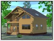 Фото: дом из бруса 10 × 10