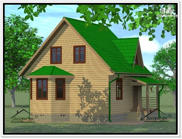 Фото: проект дом из бруса 7 × 7