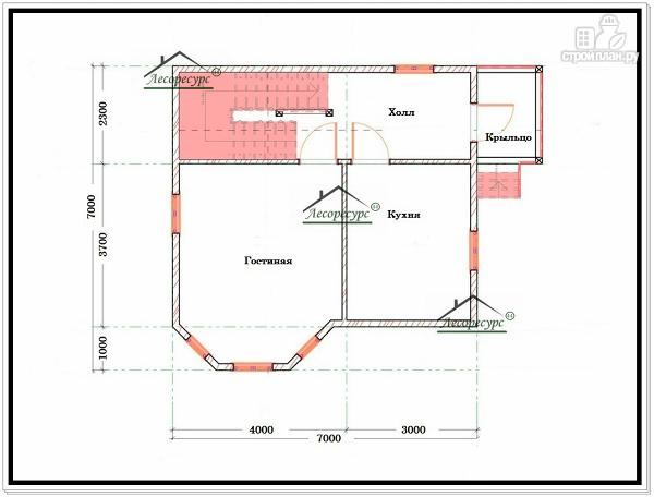 Фото 5: проект дом из бруса 7 × 7