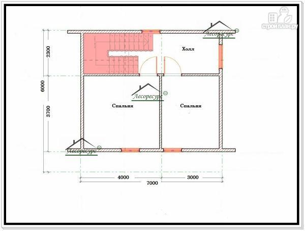 Фото 6: проект дом из бруса 7 × 7