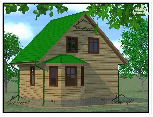 Фото 2: проект дом из бруса 7 × 7