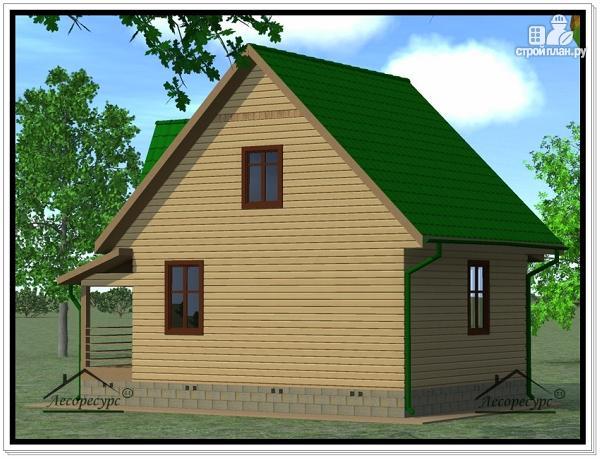 Фото 3: проект дом из бруса 7 × 7