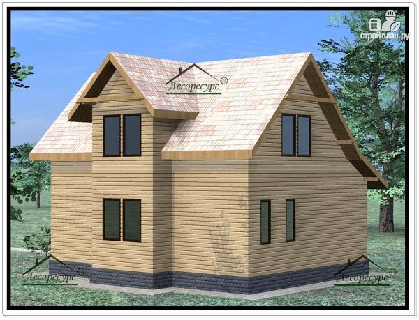 Фото 4: проект дом из бруса 8×10
