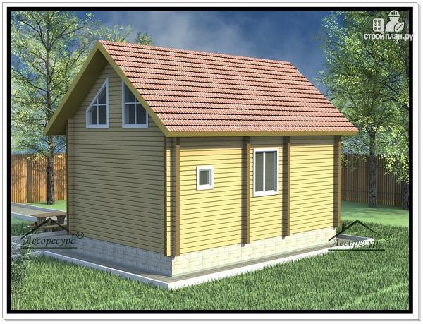 Фото 3: проект дом из бруса 7 × 9