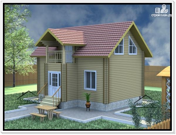Фото 2: проект дом из бруса 7 × 9
