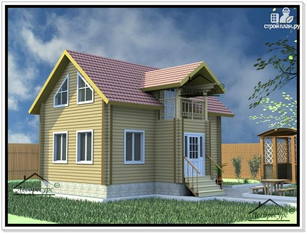 Фото: проект дом из бруса 7 × 9