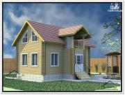 Проект дом из бруса 7 × 9