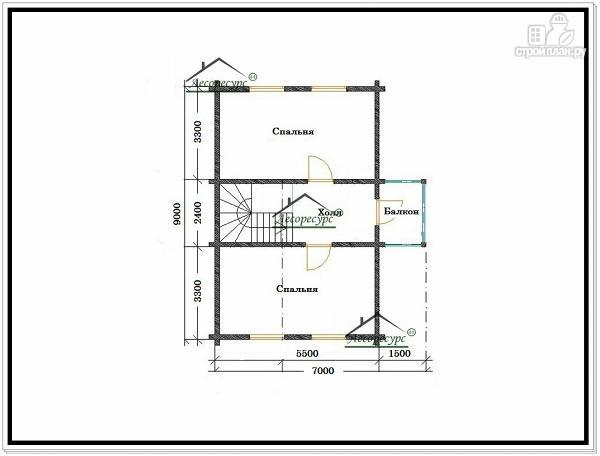 Фото 6: проект дом из бруса 7 × 9