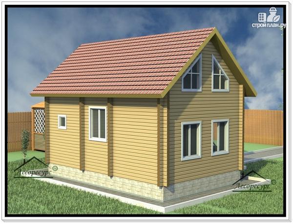 Фото 4: проект дом из бруса 7 × 9