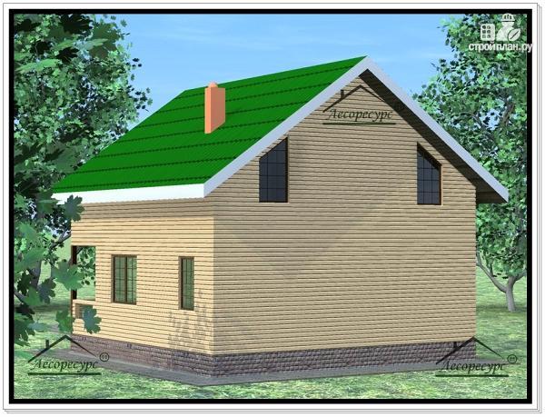 Фото 4: проект дом из бруса 9 × 9 с мансардой