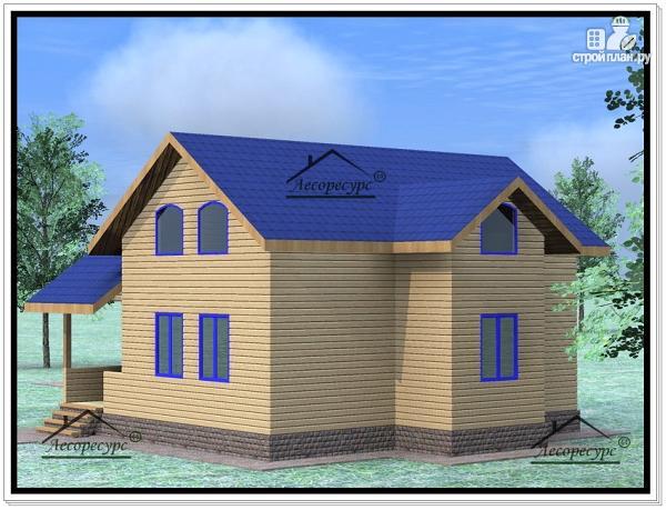 Фото 4: проект дом из бруса 9×10 с мансардой