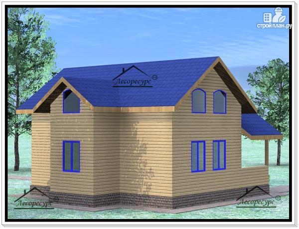 Фото 3: проект дом из бруса 9×10 с мансардой
