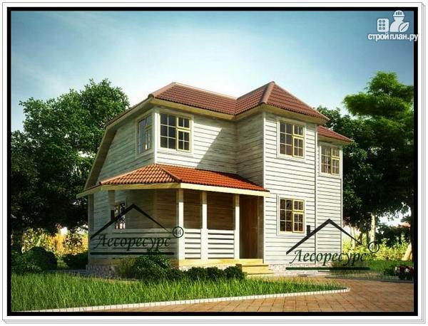 Фото: проект загородный дом из бруса