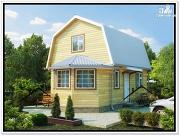 Фото: дом 6 × 6 из бруса