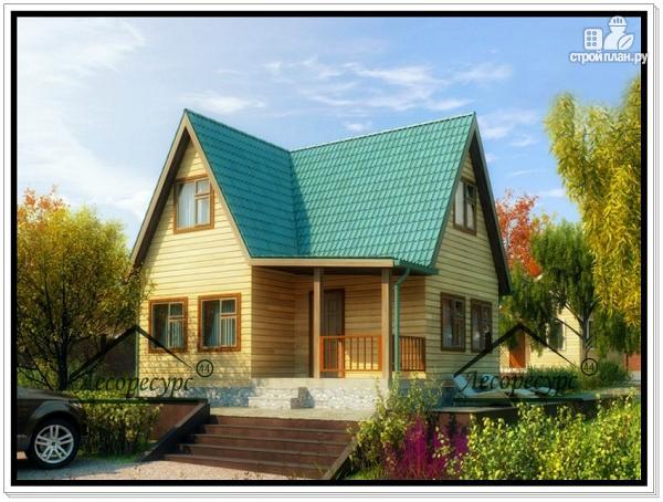 Фото: проект дом 6 × 7 из бруса
