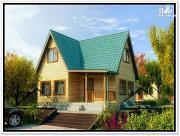 Фото: дом 6 × 7 из бруса