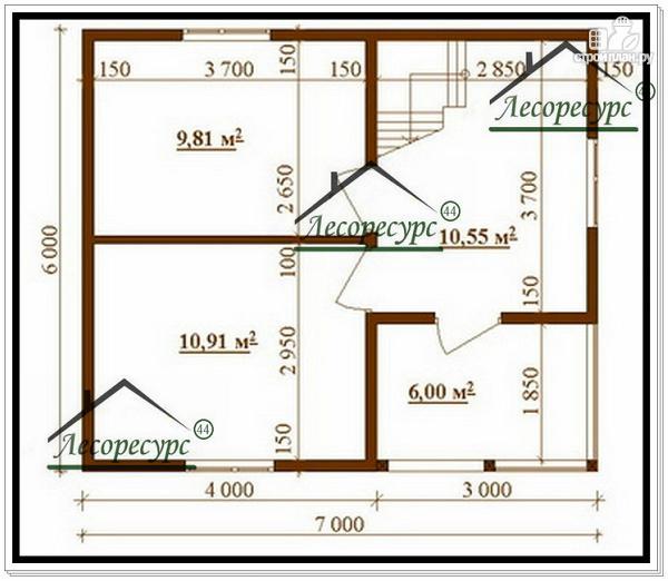 Фото 2: проект дом 6 × 7 из бруса