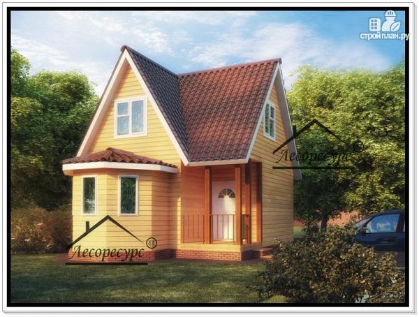 Фото: проект дом 6×6 из бруса