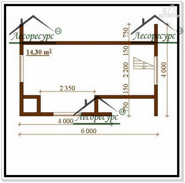 Фото 3: проект дом 6×6 из бруса