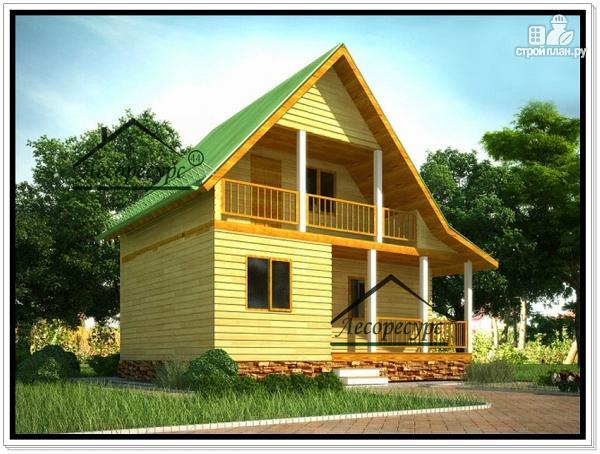 Фото: проект дом 8 × 6 из бруса