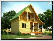 Фото: дом 8 × 6 из бруса