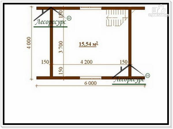 Фото 3: проект дом 4 × 6 из бруса