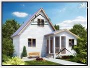 Фото: дом 4 × 6 из бруса