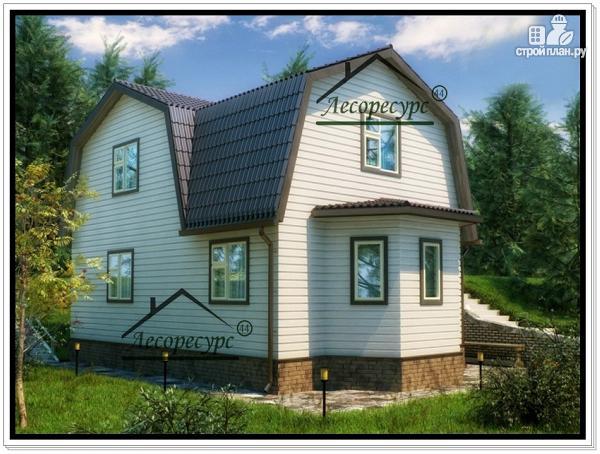 Фото: проект дом из бруса 6 × 9 с ломаной крышей