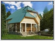 Фото: дом 7 × 6 из бруса