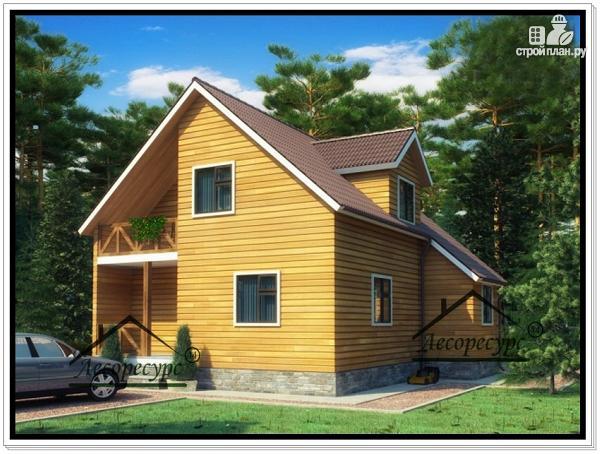 Фото: проект дом 9 × 8 из бруса