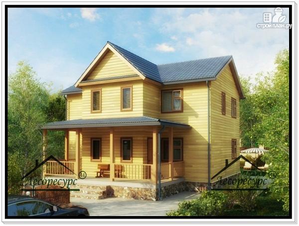 Фото: проект дом 9 × 10 из бруса
