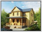 Фото: дом 9 × 10 из бруса
