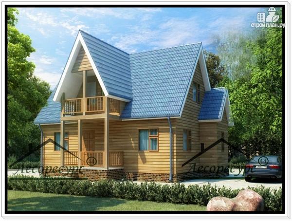 Фото: проект дом 9 × 6 с мансардой из бруса