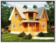 Фото: дом 8×8 из бруса