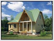 Фото: дом 6 × 9 из бруса