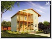 Проект дом 8 × 8 из бруса