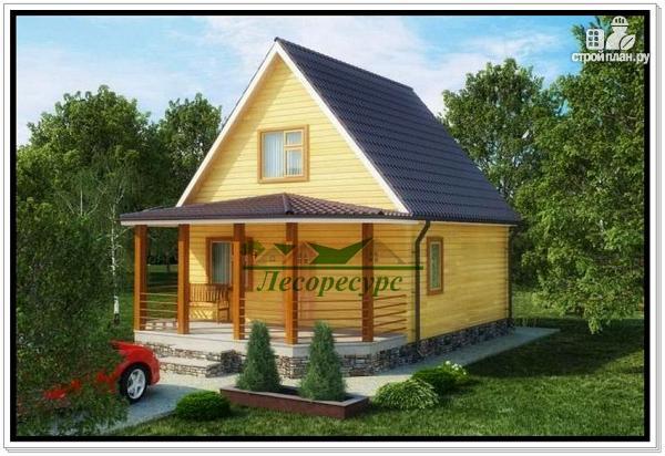 Фото: проект дачный домик 6 × 6 из бруса
